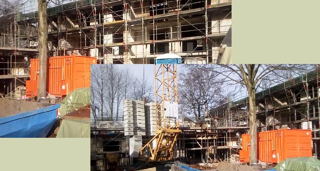 Und weiter schreitet der Neu-Bau voran, Januar 2019